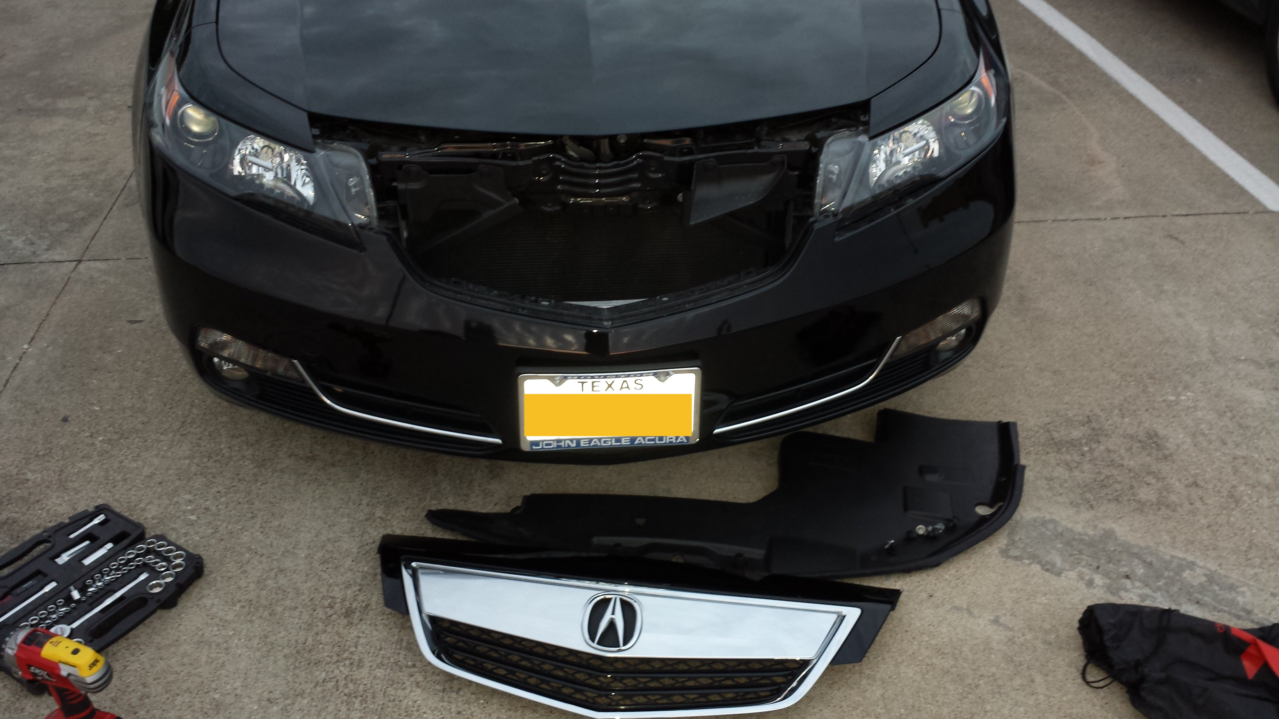 Acura TL SHAWD Grill Removal - 2018 acura tsx grill replacement