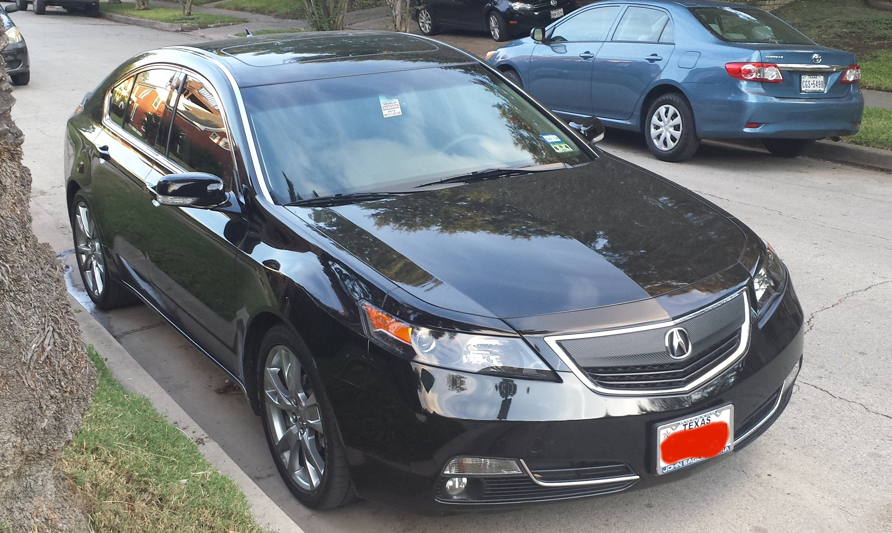 remove the front grill or beak on 2013 tl acurazine acura
